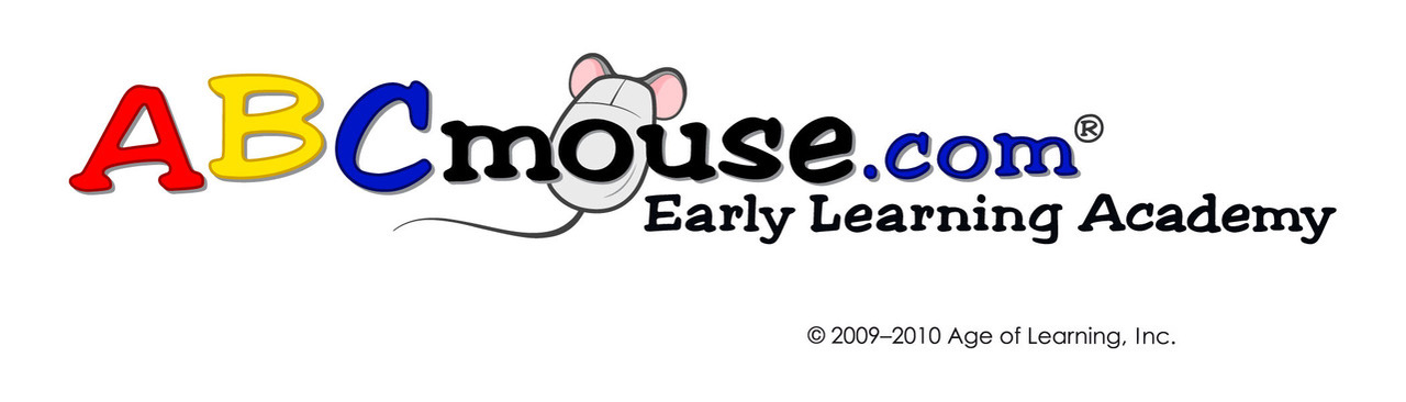 ABC Mouse logo with Mouse as computer mouse
