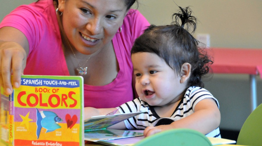 SPL-toddler and mom with book
