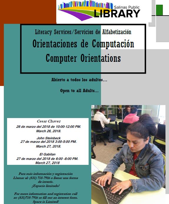 JSL Computer Orientation | Salinas Public Library