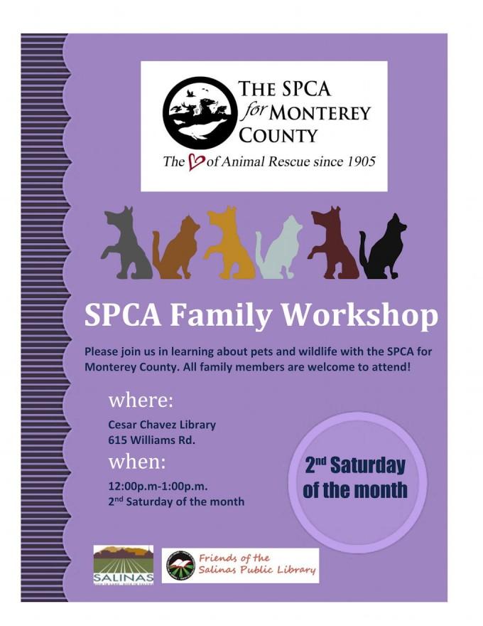 SPCA Family Workshop flyer