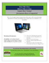 Computer Basics Training flyer