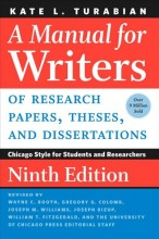 A Manual for Writers of Research Papers, Theses, and Dissertations, Ninth Edition: Chicago Style for Students and Researchers        cover image