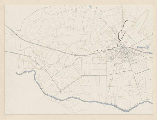Old Undated Salinas Contour Map