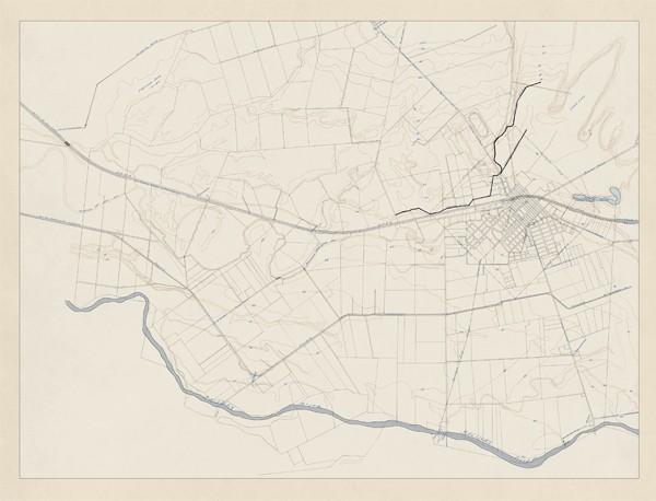 Old Undated Salinas Contour Map